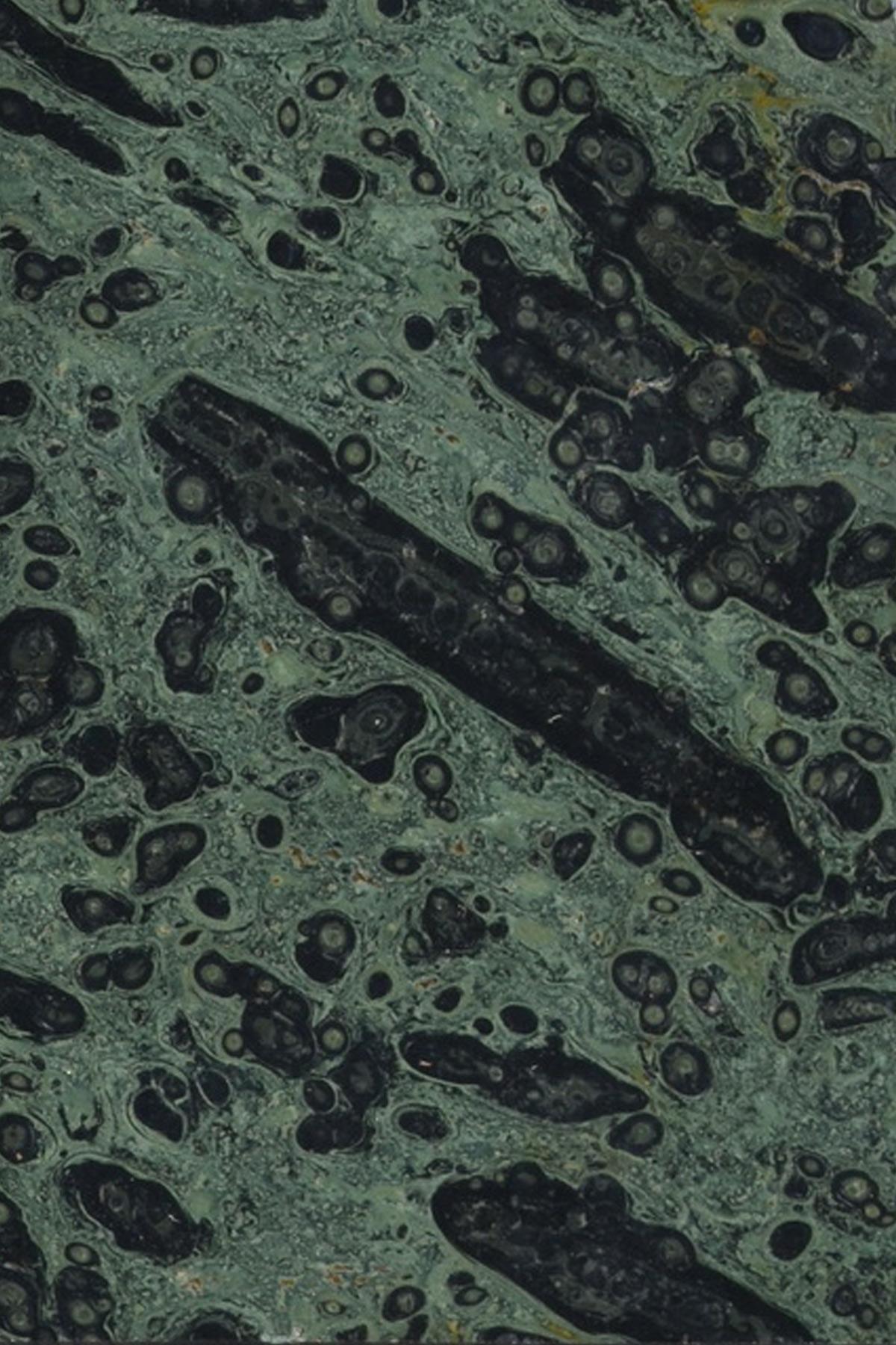 Jaspis grün poliert